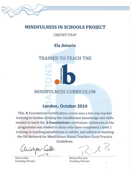 certif 3 – Mindful Brain